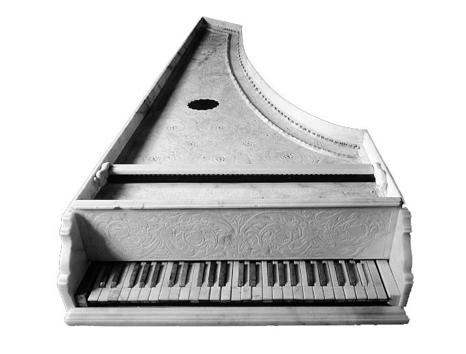 clavicembalo-in-marmo Michele De Grandi